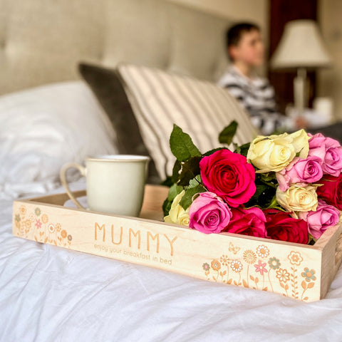 Personalised Hand Painted Flower Tray