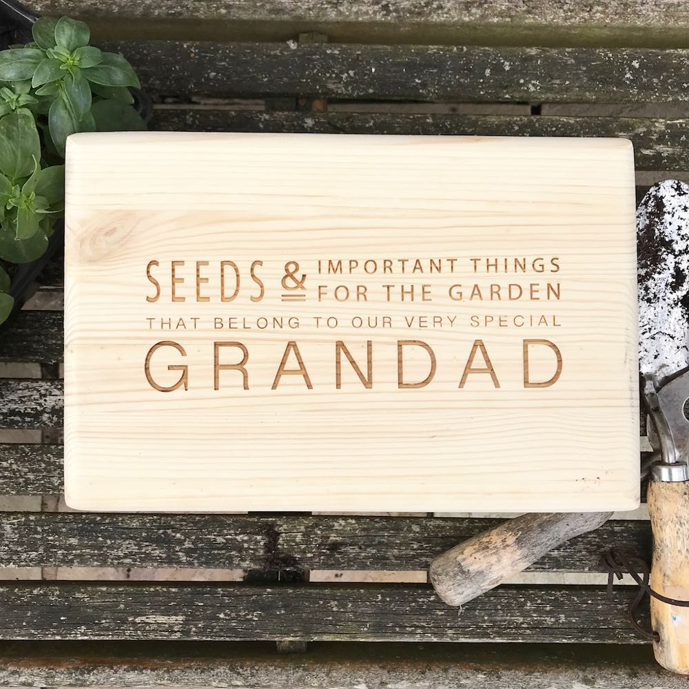 Personalised Garden Seed Storage Box