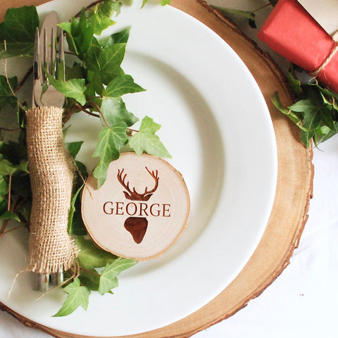 Personalised Stag Place Settings