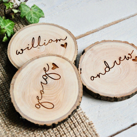 Rustic Name Place Settings