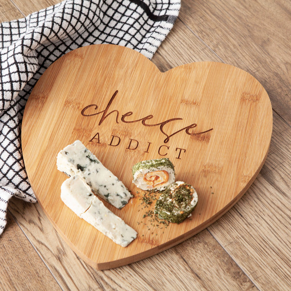 Personalised Cheese Addict Cheese Board
