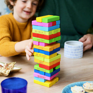 Personalised Rainbow Stacking Tower