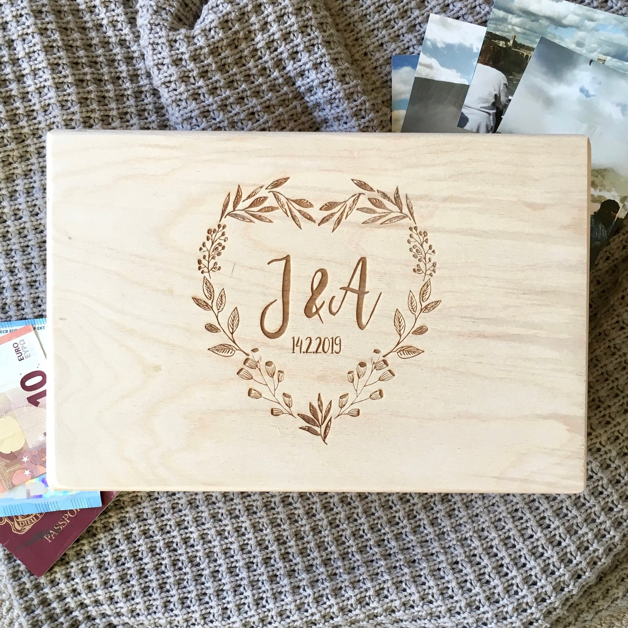 Personalised Couple Initials Memory Box