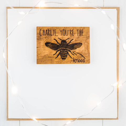 Personalised Bees Knees Magnet Gift Card