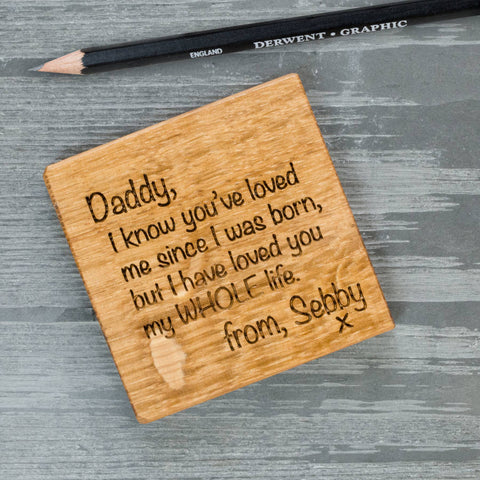 Personalised Letter to... Coaster