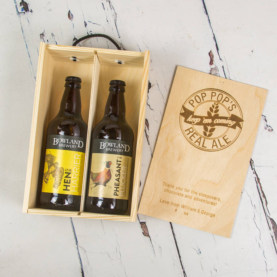 Personalised Real Ale Gift Box