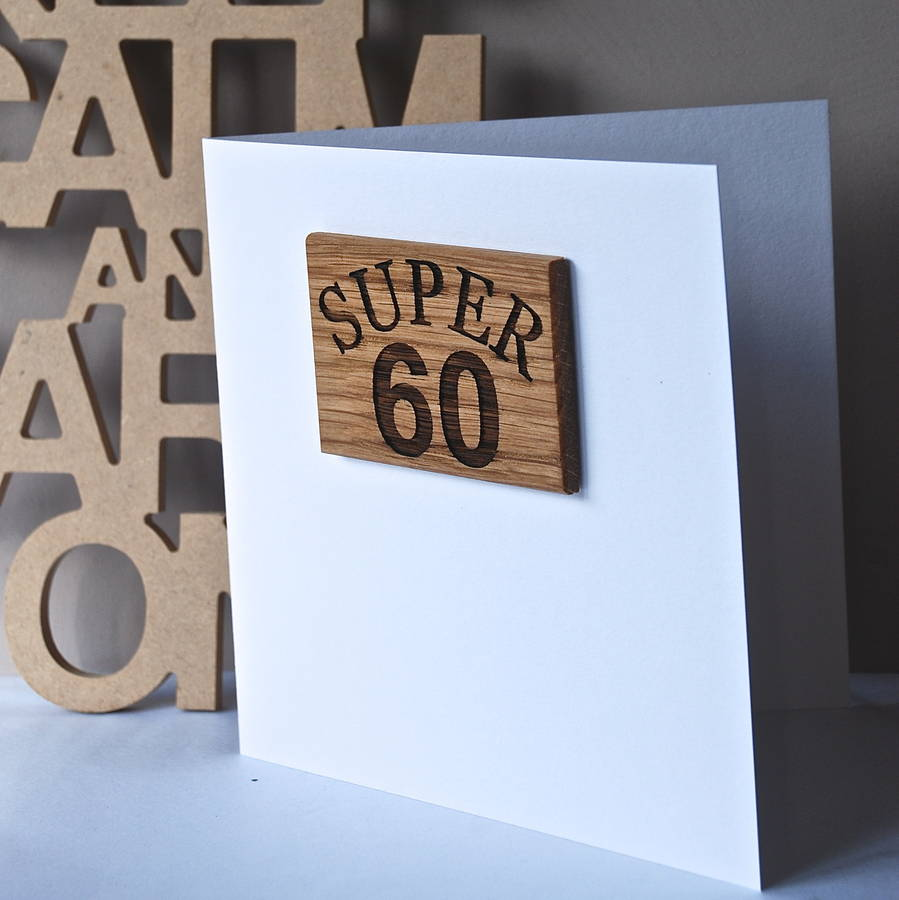 60th Birthday Magnet Card