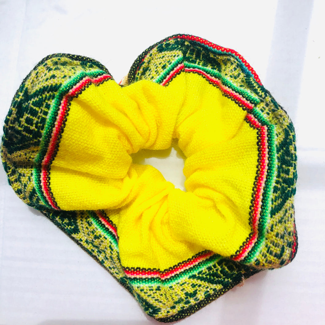 Large Yellow Peruvian Scrunchie