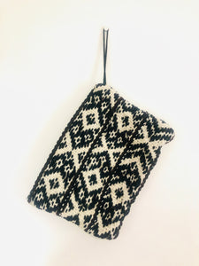 Black and Cream Peruvian Clutch