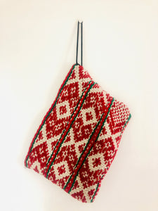 Red and Green Peruvian Clutch