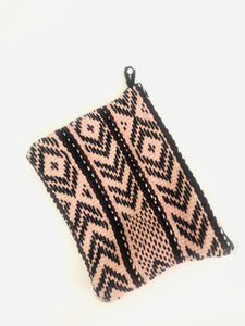 Pink and Black Peruvian Clutch