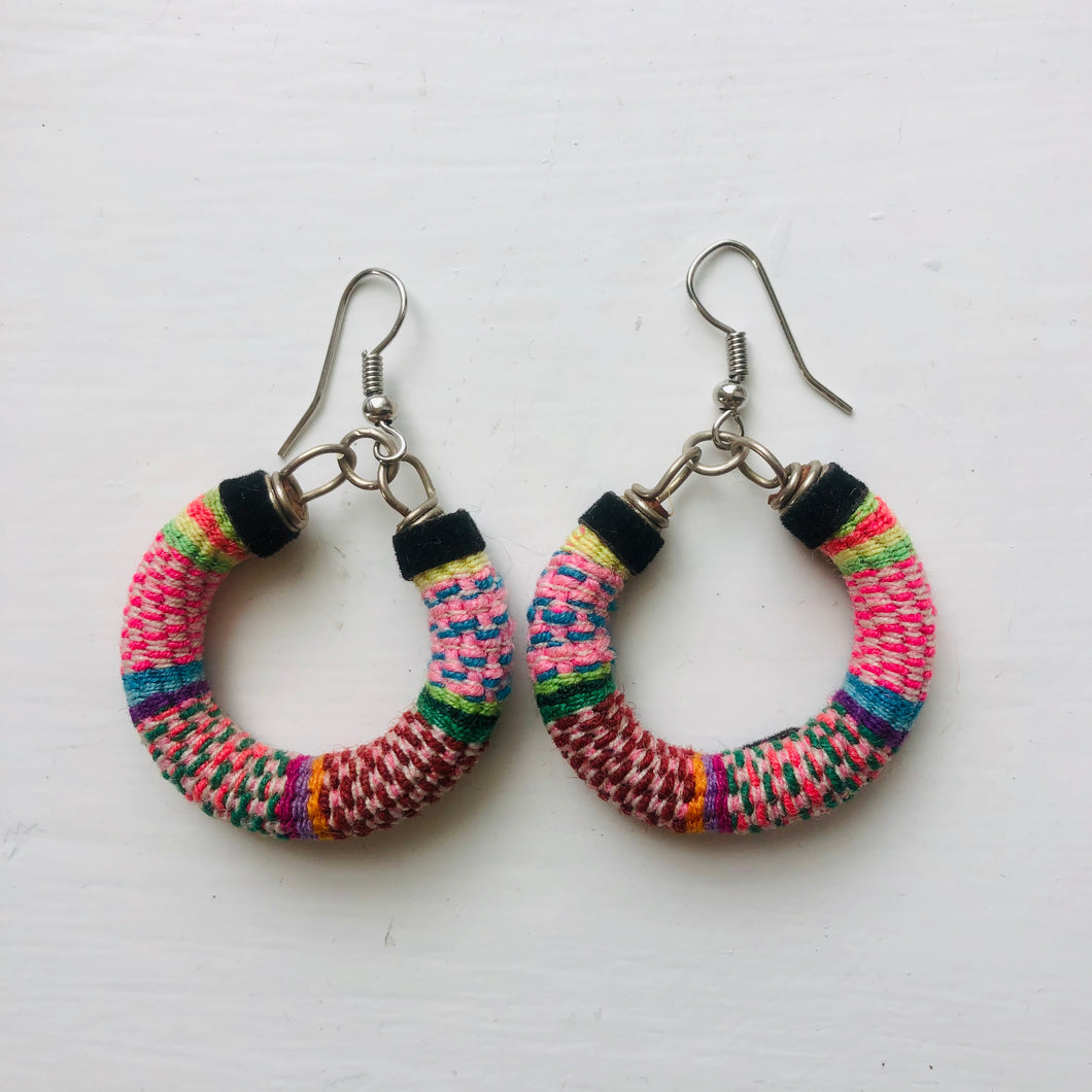 Small Multi Coloured Check Hoops