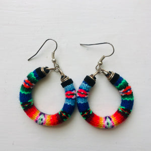 Small  Black Multi Colour Earrings