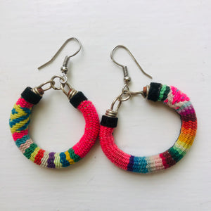 Small Multi Pink Coloured Earrings