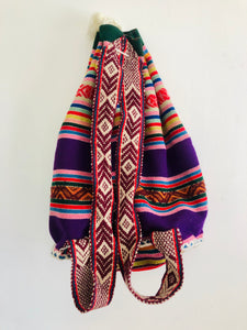Purple Striped Peruvian Rucksack