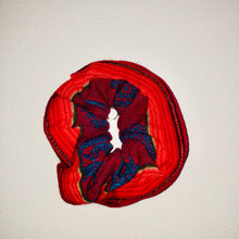 Load image into Gallery viewer, Red Pattern Peruvian Scrunchie