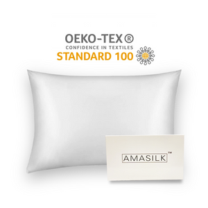 AmaSilk Pure Mulberry Silk pillowcase Ivory 20 x 30 in
