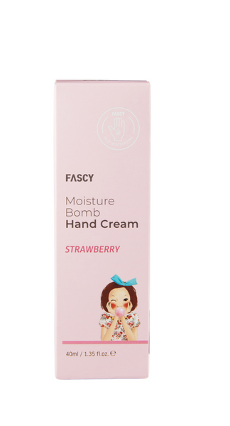 Mitrinošs roku krēms Fascy Moisture Bomb Strawberry, 40 ml.