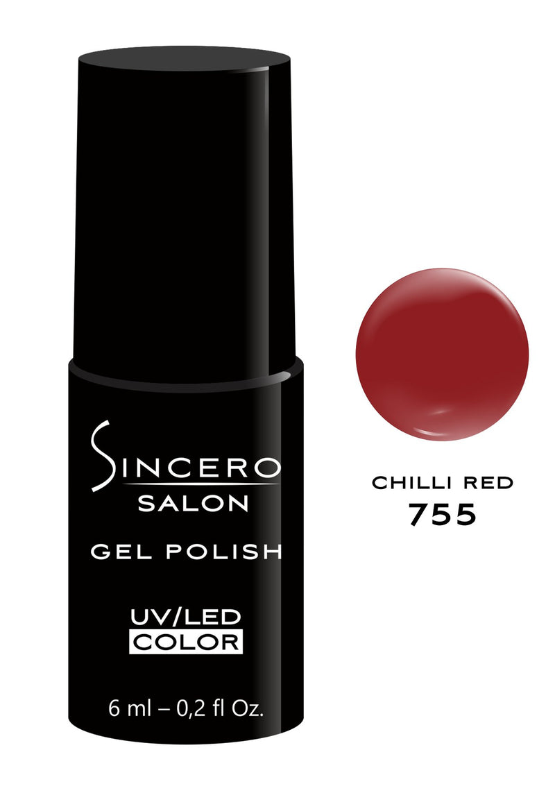 "Gēla nagu laka ""Sincero Salon"", 6ml, Chilli red, 755"