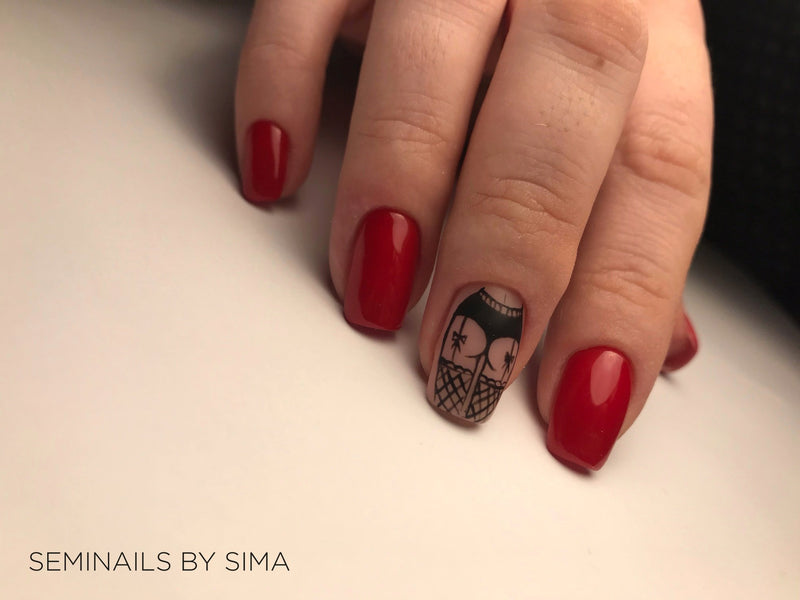 "Gēla nagu laka ""Sincero Salon"", 6ml, Sexy red, 727"