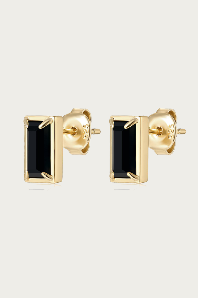 Load image into Gallery viewer, F+H JEWELLERY - DIANA GEMSTONE STUDS BLACK ONYX