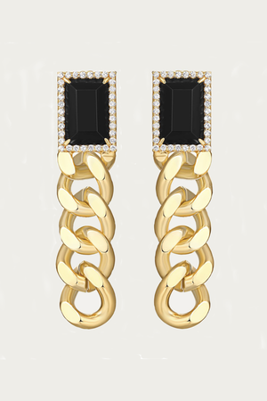 Load image into Gallery viewer, F+H JEWELLERY - ANNIE GEMSTONE CHAIN EARRINGS