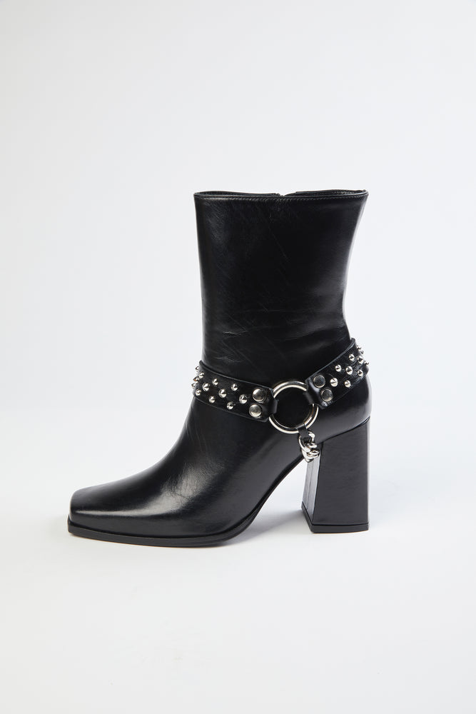 Load image into Gallery viewer, THE KOOPLES - HEELED BOOTS WITH REMOVABLE JEWEL