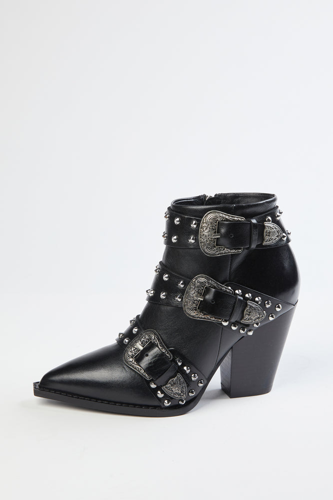 Load image into Gallery viewer, THE KOOPLES - HEELED WESTERN BOOT WITH BUCKLE