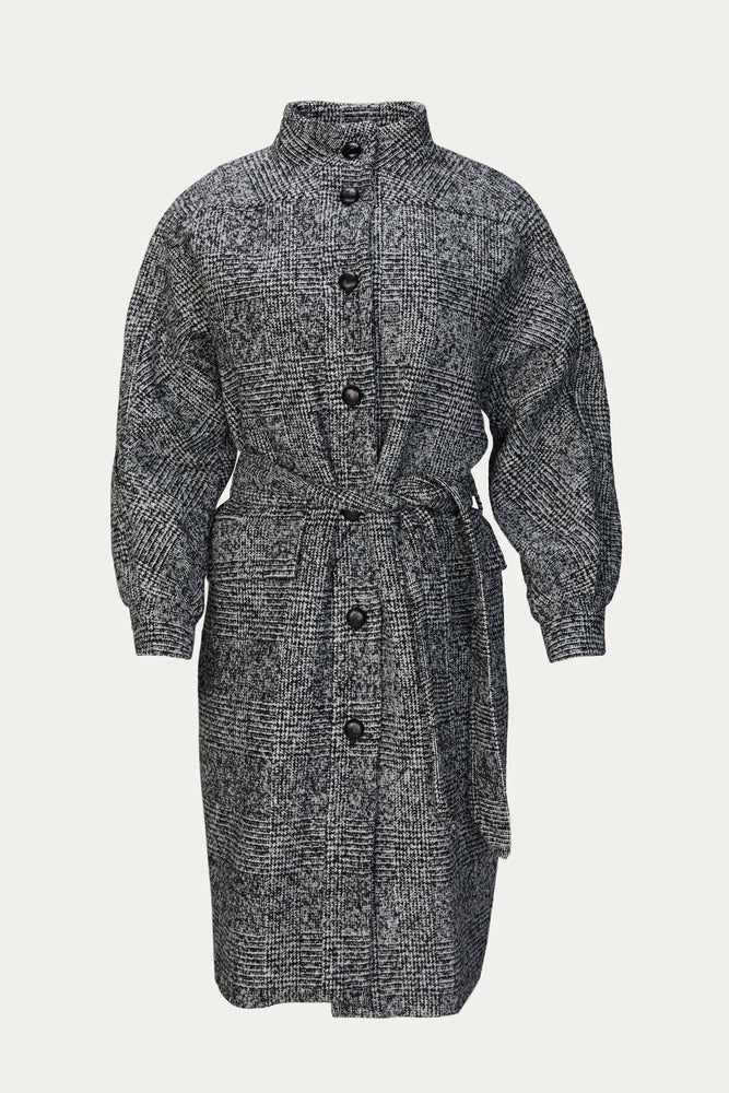The Kooples - WOOL COAT WITH HIGH NECK