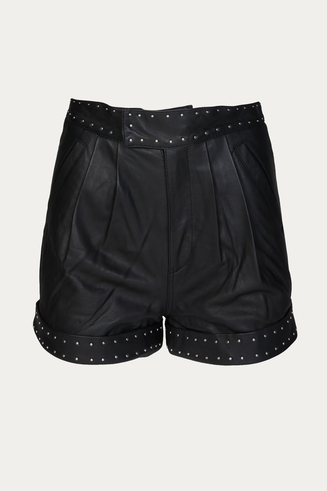 THE KOOPLES - SHORTS WITH STUDDED BELT