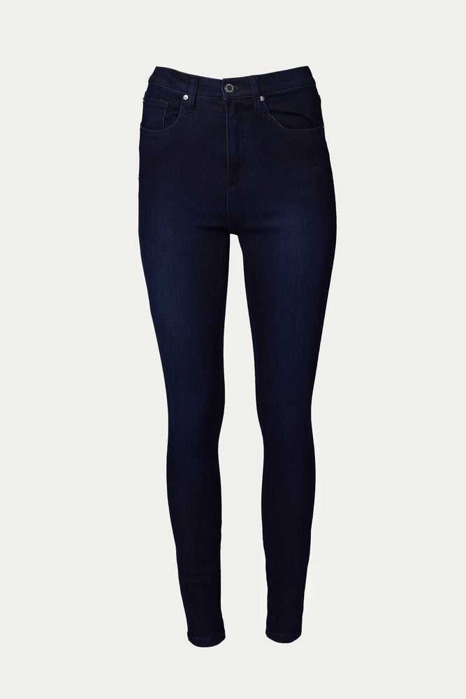 WE WORE WHAT - HIGH RISE SKINNY ANKLE ZIP