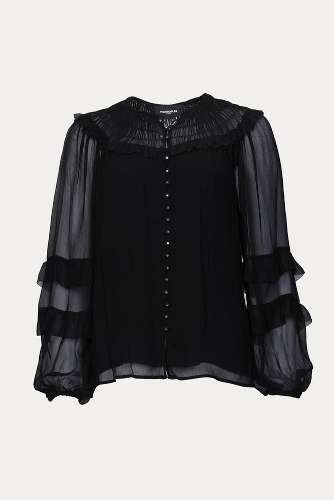 THE KOOPLES - RENAISSANCE SMOCKED SHIRT
