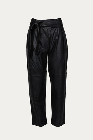Load image into Gallery viewer, SMYTHE - PLEATED LEATHER PANT