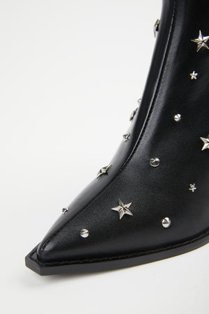 Load image into Gallery viewer, THE KOOPLES - STAR STUDDED LEATHER BOOTS