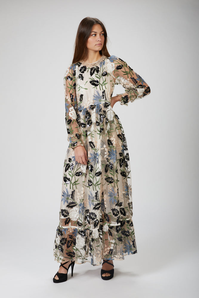 SISTER JANE - SOIREE EMBROIDERED MAXI DRESS