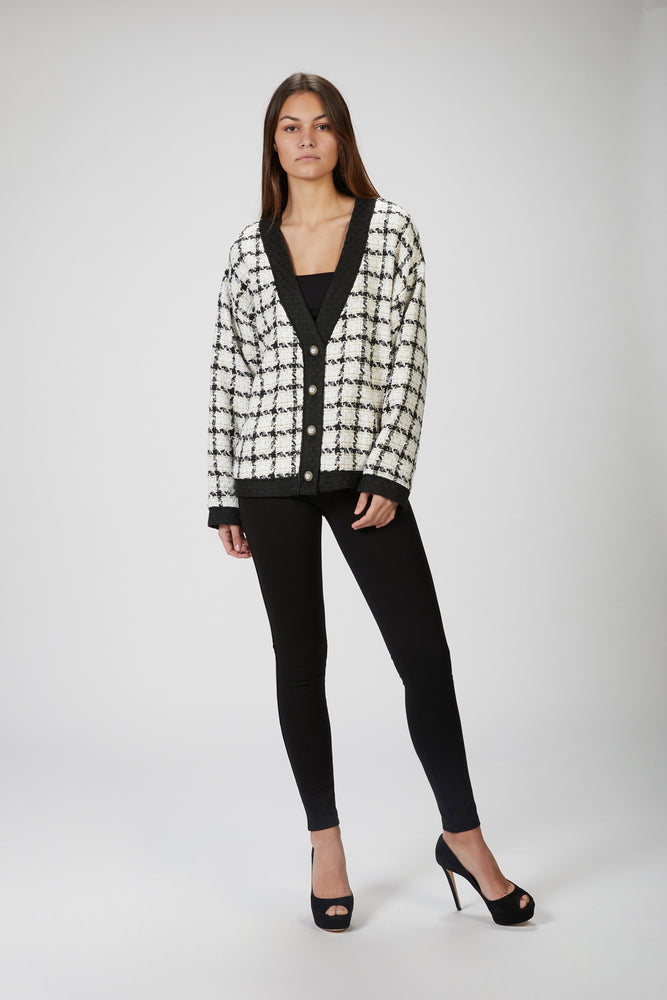 SISTER JANE - SUPPER CLUB TWEED CARDIGAN