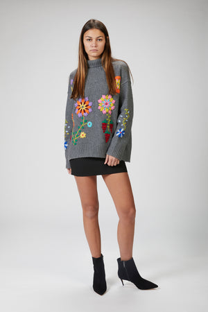 Load image into Gallery viewer, MANDKHAI - HAND EMBROIDED JUMPER