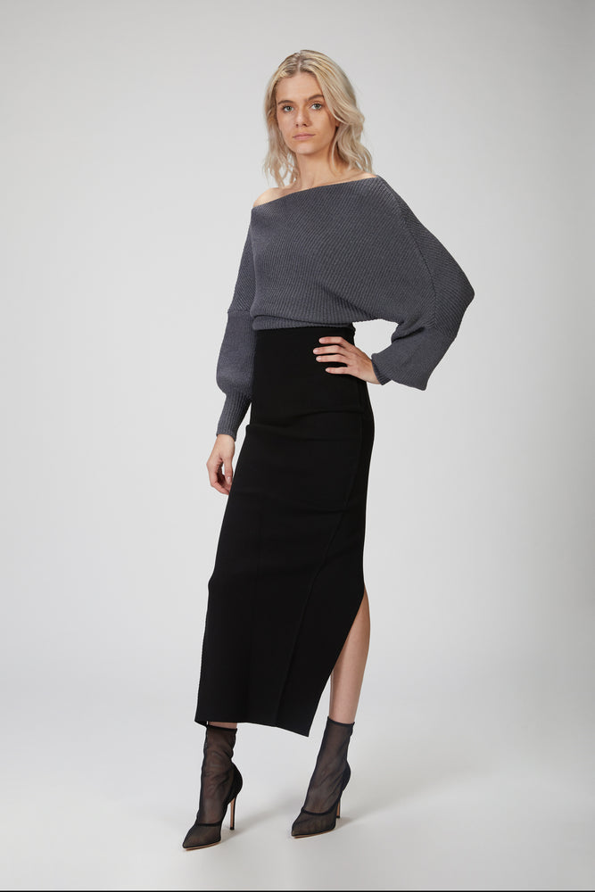 Load image into Gallery viewer, THE LINE BY K - LEON OFF-SHOULDER SWEATER