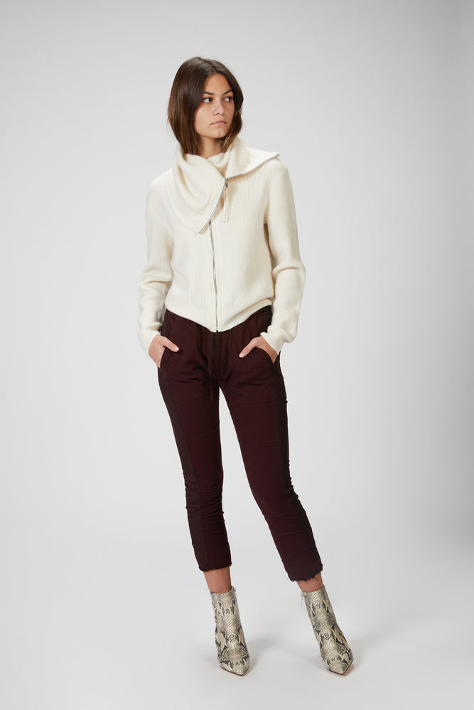 NAADAM - LUXE CASHMERE RIBBED ZIP UP JACKET