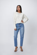 MANDKHAI - CROPPED ROUND NECK JUMPER