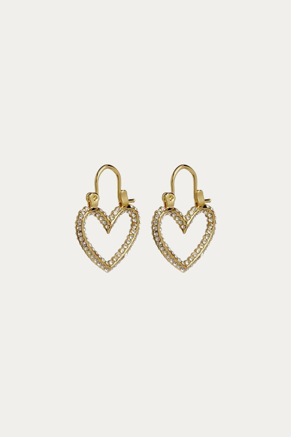 LUV AJ - PAVE MINI HEARTBREAKER HOOPS