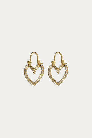 Load image into Gallery viewer, LUV AJ - PAVE MINI HEARTBREAKER HOOPS
