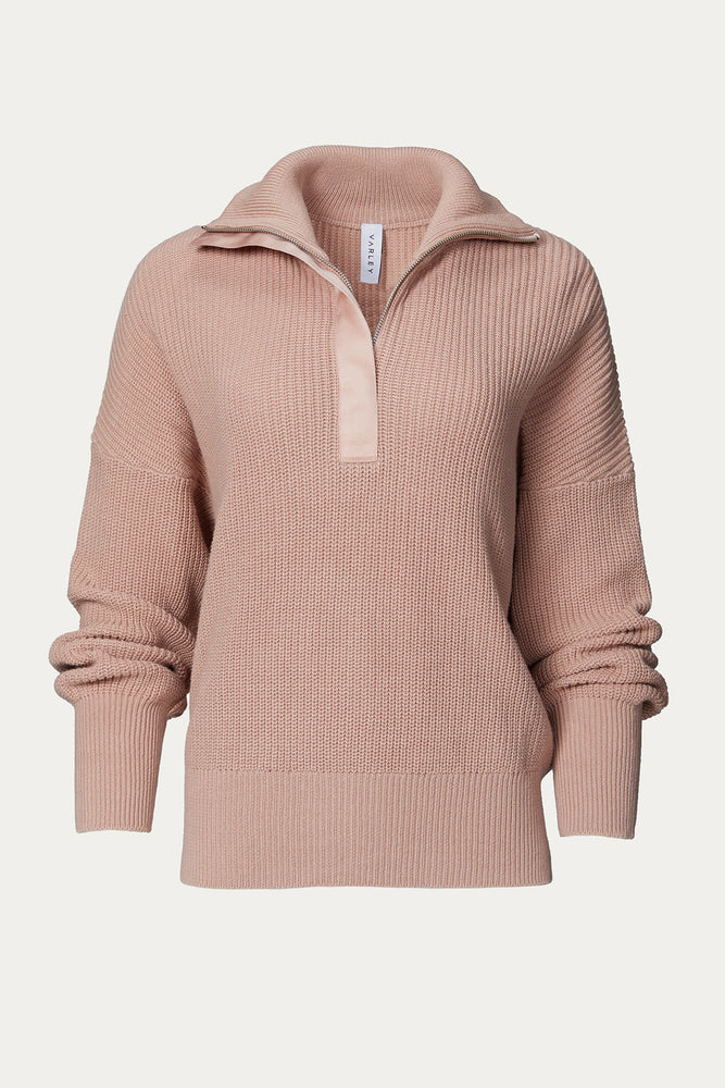 Load image into Gallery viewer, AXTELL HALF ZIP KNIT PULLOVER