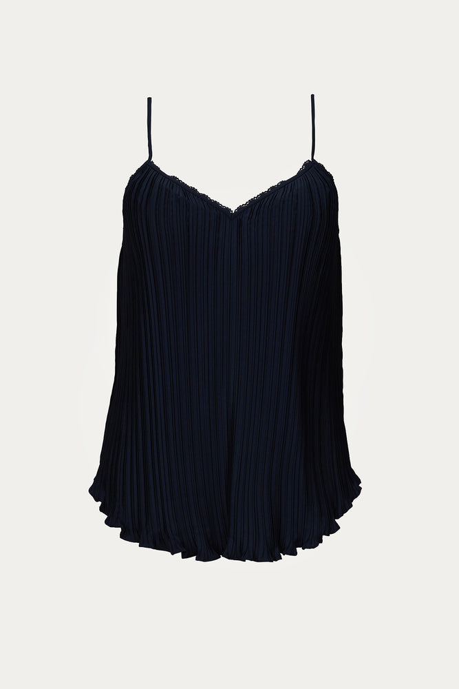 blue, Clothing, cotton, lace, New Arrivals, polyester, Rebecca Taylor, tank, Tops