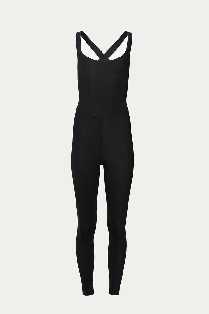 Activewear & Loungewear, black, black unitard, Clothing, elastane, exercise, Héros, New Arrivals, one piece, open back, polyamide, Time to Train, unitard, workout, workout unitard