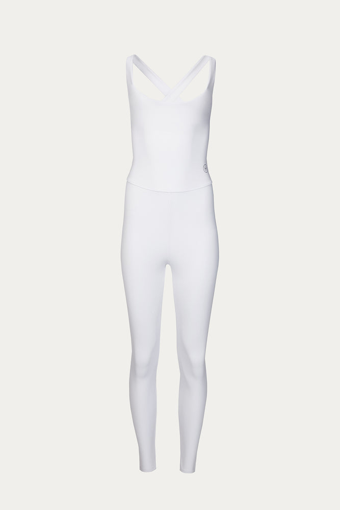 Activewear & Loungewear, Clothing, elastane, exercise, Héros, New Arrivals, polyamide, Time to Train, unitard, white, white one piece workout, white unitard, workout