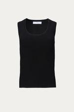 black, black tank top, Clothing, Everyday Essentials, In The Mood For Love, ITMFL, open scoop neck, polyester, ribbed edging, ribbed hem, ribbed trim, scoop, scoop neck, scoop neckline, scooped neckline, shirt, Shirts, sleeveless, sleeveless knit, sleeveless sweater, slim, slim fitting, solid, Spring Separates, tank, tank top, top, tops, viscose