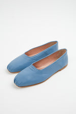 ballerina, ballerina flat, ballerina flats, ballet flats, blue, blue ballet flats, Everyday Essentials, flat shoes, flats, Gia Borghini, Gia Couture, heavenly, leather, leather ballerina flats, New Arrivals, Shoes, Spring Separates, square toe