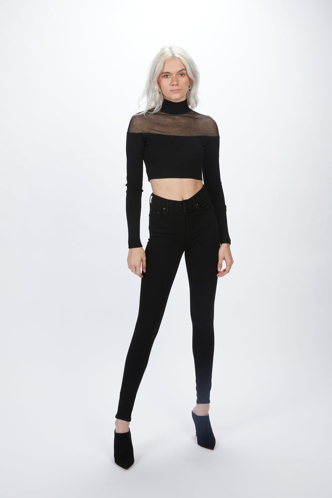 ZEYNEP ARCAY - SHEER CROP KNIT TOP