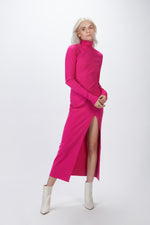 ZEYNEP ARCAY - DEEP SLIT MIDI KNIT DRESS